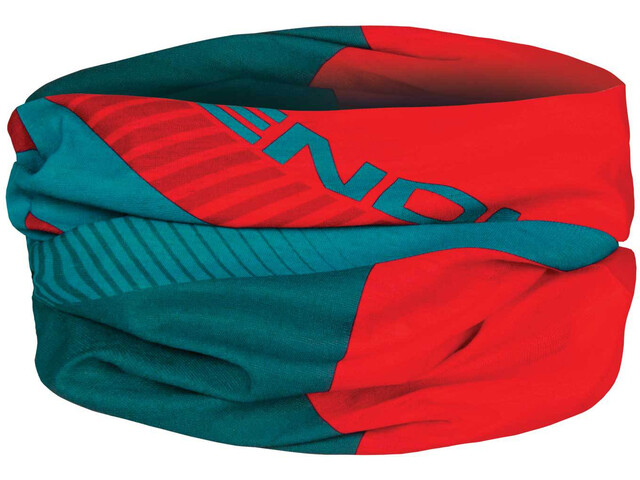 Endura Multitube - Foulard - rouge/Bleu pétrole